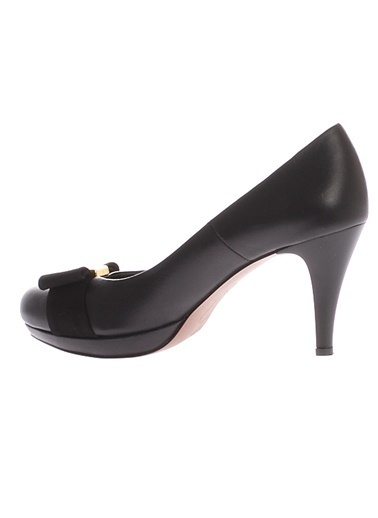 Cotton Bar Kurdele Detaylı Kadın Topuklu Ayakkabı Siyah